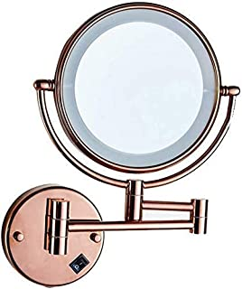 Daily Necessities LED Makeup Mirror Double-Sided Wall Mounted Bathroom Mirror Vanity Makeup and Shaving Mirror   8 inch 3X Magnification   360&deg