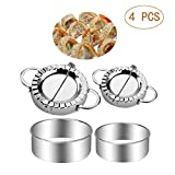 Stainless Steel Dumpling Maker 4 Pcs Small and Large Dumpling Mold Dough Press Cutter Wrapper Pie Crimper Pastry Tools Ravioli Mould