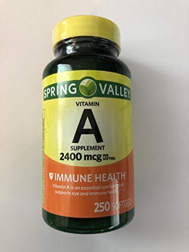 Spring Valley - Vitamin A SUPPLEMENT 2400MCG 250 Softgels