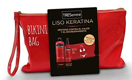 TRESEMME LISO KERATINA BIKINI BAG CHAMPU 500ML + PROTECTOR CALOR 200ML + NECESER
