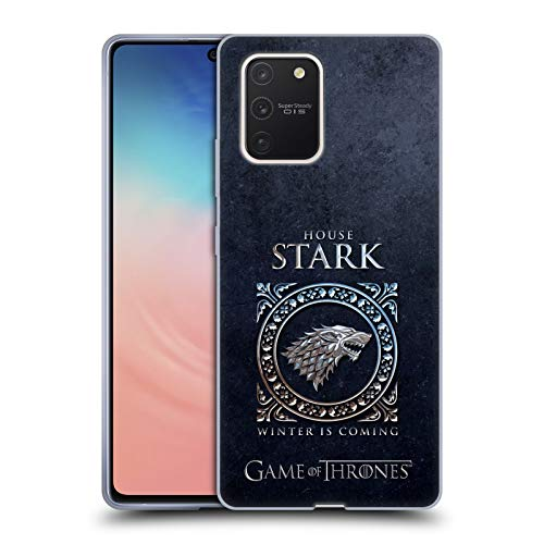 Head Case Designs Officially Licensed HBO Game of Thrones Stark Metallic Sigils Soft Gel Case Compatible with Samsung Galaxy S10 Lite