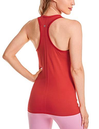 CRZ YOGA - Camiseta Espalda Nadadora Deportiva Mujer sin Mangas Fuego 42