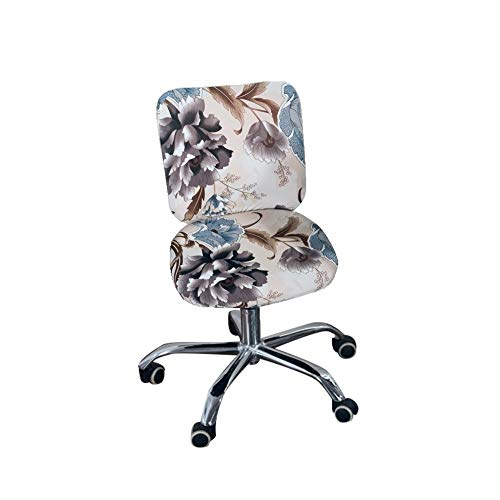 Iseedy Office Desk Rotating Chair Seat Covers Universal Stretch Spandex Computer Chair Covers (Peony)