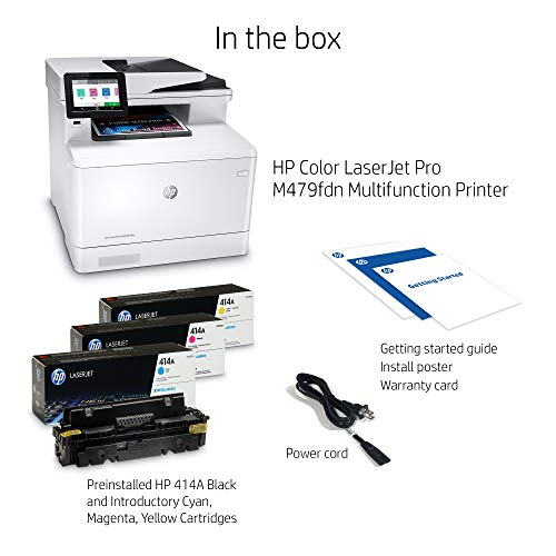 HP Color LaserJet Pro Multifunction M479fdn Laser Printer with One-Year, Next-Business Day, Onsite Warranty, Works with Alexa (W1A79A) – Built-in Ethernet Photo #4