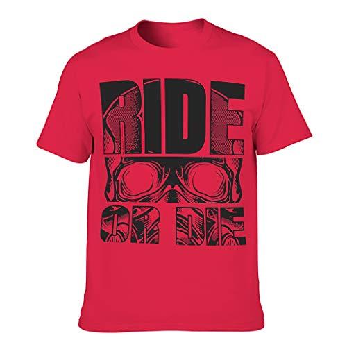 Relaxident Camiseta de algodón para hombre Ride Or Die Cool Divertida Transpirable