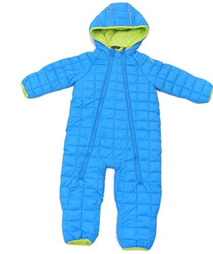 Snozu Infant Fleece Lined Ultralight Quilting One Piece Snowsuit Blue 3/6M