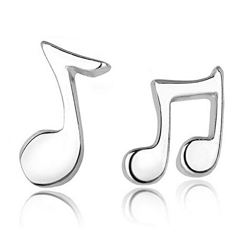qinlee orecchini da donna asimmetrico musicale Note orecchini semplice orecchini moda regalo Orecchini moda donna gioielli orecchini di Nagel, lega, Silber 2, Medium
