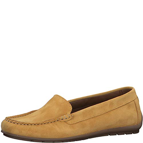 Tamaris Damen SlipperMokassins 24609-34, Frauen Slipper, Women's Woman Freizeit leger schlupfhalbschuh Slip-on College Schuh,Saffron,40 EU / 6.5 UK