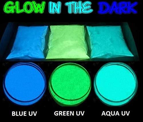 5 Gr Pigmentos en polvo para resina epoxi o decoración, fluorescente, neon, perleados, fotoluminiscentes (Verde)