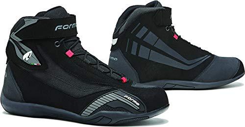 Forma Genesis - Zapatos de moto para hombre, color negro, talla 42
