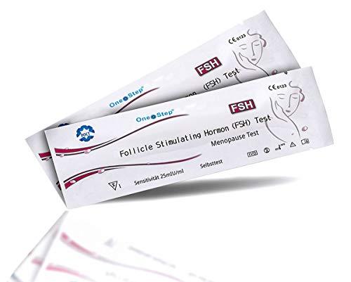 2 x One+Step Menopause Test I FSH Test für die Wechseljahre I Prüfung der Meno Balance
