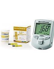 جهاز قياس السكر والكوليسترول واليوريك اسيد بالدم بيناشيك مع علبة شرائط كوليسترول