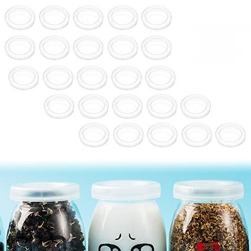 25pcs Tapa de tarros de yogurt yangbaga tapas de reutilizables ecológicas Tapas o Cubiertas para conservas para cocina hogar