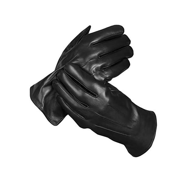 Messerio Sheepskin Leather Winter Gloves for Men 3