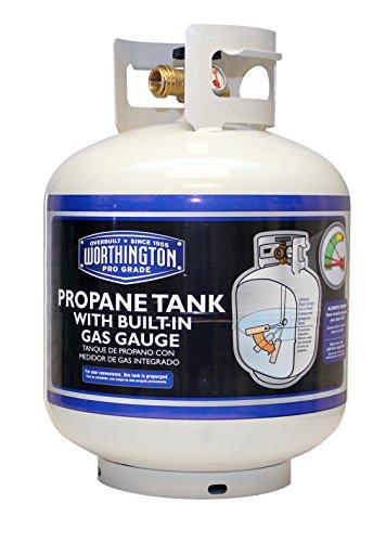 Worthington 336483 20-Pound Steel Propane Tank with Built-In Gas Gauge