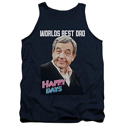 Happy Days - - Débardeur meilleur papa pour hommes, Medium, Navy