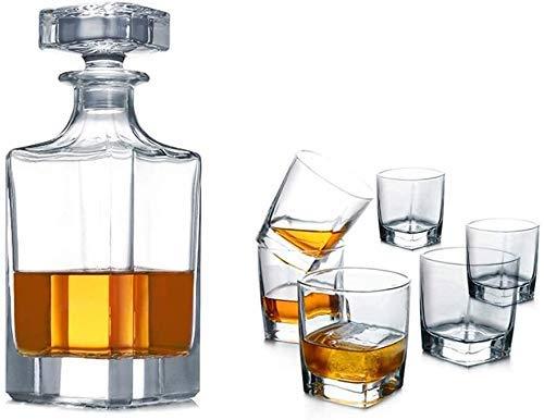L.BAN Whisky-Dekanter-Set, transparenter Kristallglas-Dekanter-Glasverschluss Wein-Set (Farbe: D)