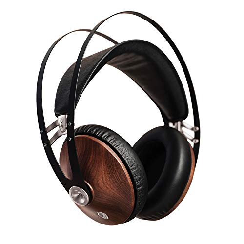 Meze 99 Classics Walnut Silver | Wired Over-Ear Headphones with Mic and Self Adjustable Headband | Classic Wooden Closed-Back Headset for Audiophiles