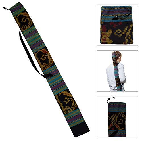 Australian Treasures - DIDGERIDOO TASCHE 125 cm - Didgeridoo Tasche aus Ikat-Stoff. Glocke Ø 8 cm. Inklusive Tragegurt