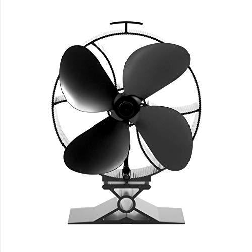 Gib nooit op winderverwarmer ventilator kachel fluisterstille hoge kwaliteit milieuvriendelijke houtkachel winderverwarming blazer bries efficiënte koeling 4 stuks ventilator zwart A