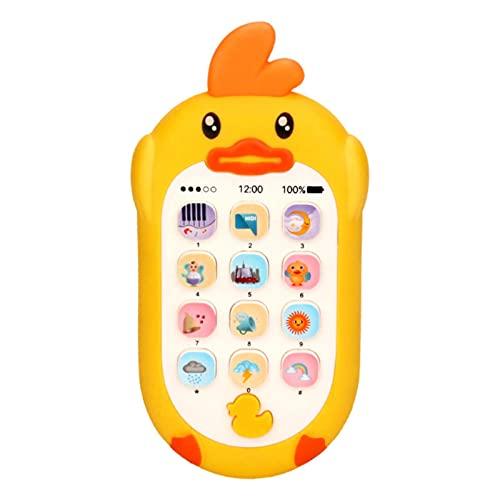 Pomrone Juguetes para Teléfonos Móviles para Bebés, Teléfono con Música, Juguete De Aprendizaje Electrónico, Juguetes para Teléfonos para Educación Temprana Regalos para Bebés, Niños Y Niñas