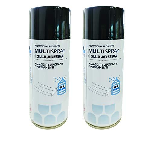 Multisint MultySpray - Nuova Colla Spray per Pannelli Fonoassorbenti 400 ml (Confezione 2 Bombolette) – Produzione 100% Italiana