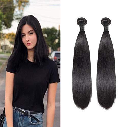 Tissage Bresilien En Lot 2 Bundles Lisse 50g/bundles(Pas 100g)Meches Bresiliennes 24 Pouces Cheveux Naturel Humain Vierges Straight Extensions Hair 8A