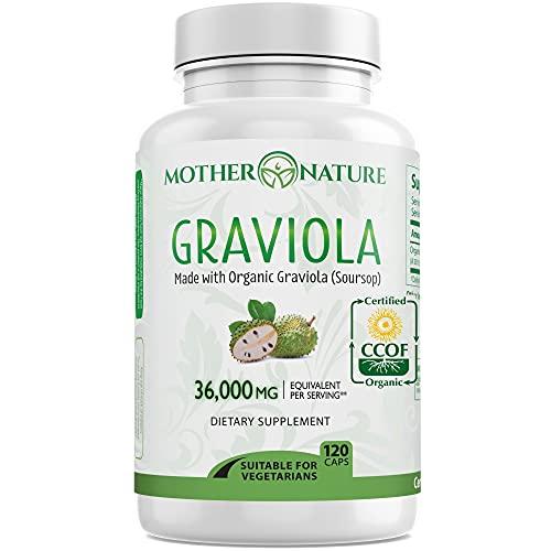Organic Graviola Soursop 36,000 mg Max Potency -...