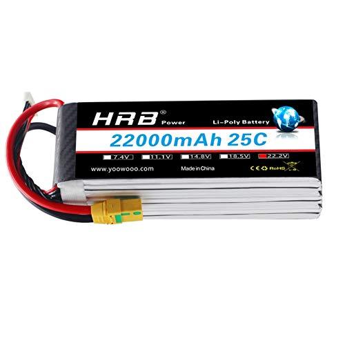 HRB 22000mAh 25C 6S 22.2V XT90 LiPo Batteria per DJI S800 S900 S1000 + UAV Drone RC Multicopter E1200