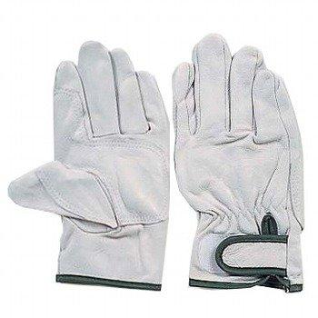 おたふく手袋/革手袋 豚革/補強アテ皮付 マジック止 [10双入]/品番:R-24 サイズ:LL