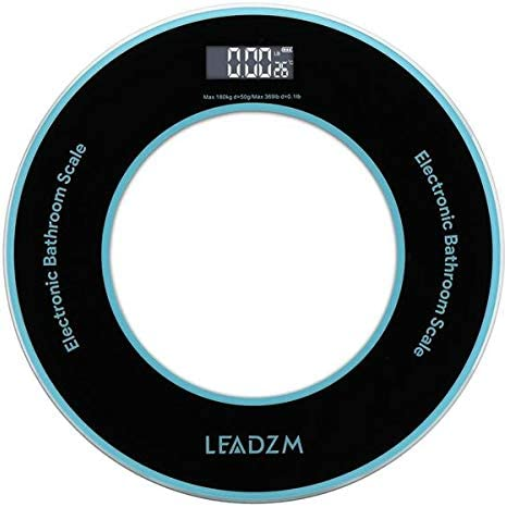 Body Scales LEADZM OFFicial shop Over item handling 180Kg 50g Personal Weighin Compact Disc Model