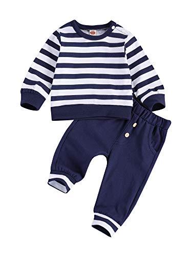 WangsCanis 2 unidades de chándal de bebé de manga larga para bebé, estilo informal, con bolsillos para otoño e invierno turquesa 0-6 meses