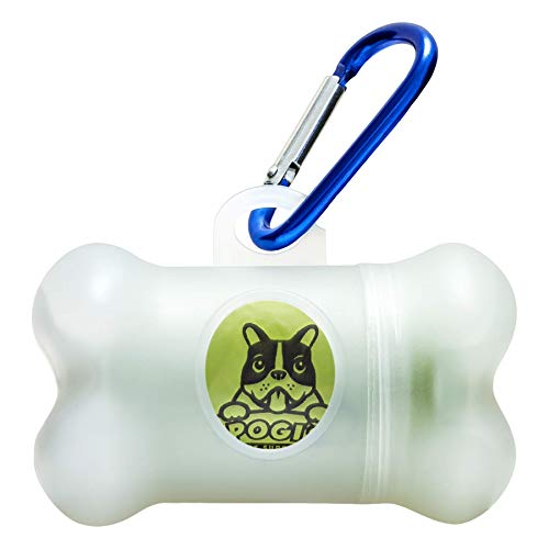 Pogi#039s Poop Bag Dispenser  Includes 1 Roll 15 Dog Poop Bags  Scented LeakProof EarthFriendly Poop Bags for Dogs