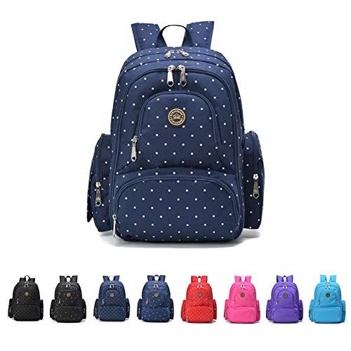 Queenie - Baby-Wickelrucksack, wasserdicht, Polyester-Baumwolle, multifunktional, Blau, Größe: M