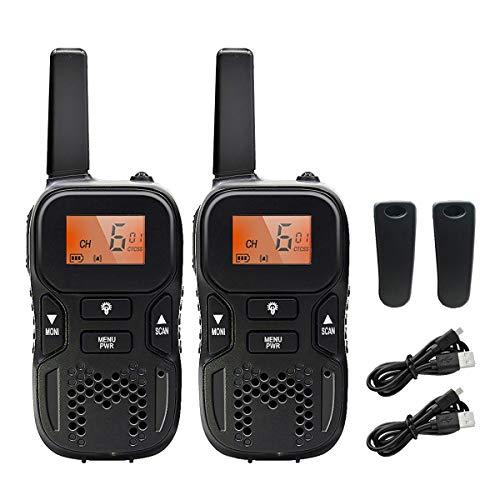 特定小電力トランシーバー TRH R8 充電式 省電力 小型無線機 2台セット、小型軽量、免許・資格不要、クリアな音質、トランシーバー初心者・お子供でも手軽に扱えます