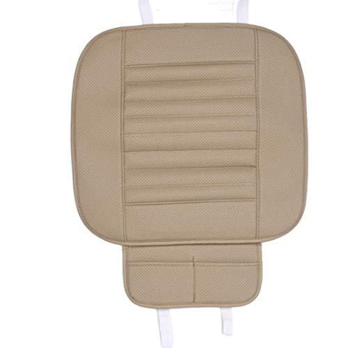 OneMoreT Vordersitzbezug aus PU-Leder für 4 Jahreszeiten, rutschfeste Matte für Autositz, universell für Autositz, Auto-Styling beige