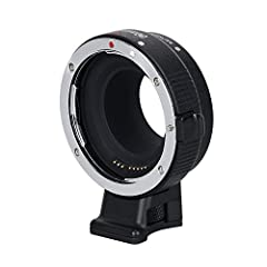 【Compatibility】Please refer to the compatibility table before you purchase our CM-EF-EOS M lens mount adapter. 【AF function & Aperture Control】The design has a built-in aperture motor and an electronic contact, which can control the aperture of the l...