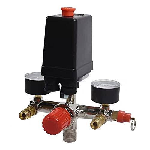 Interruptor de presión durable de la bomba del compresor de aire con medidor reguladores de control de válvulas