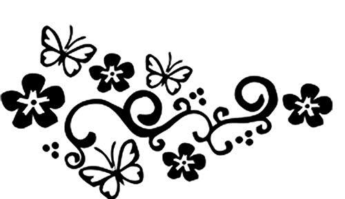 Het blokkeren van krassen bloem wijnstok vlinder kant mode gepersonaliseerde auto decoratieve landscaping csfssd