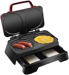 JYDQB Gâteau Muffin électrique Dorayaki 3-in-1 Petit déjeuner Machine de ménage Fried Oeufs Sandwich Grille-Pain Grill
