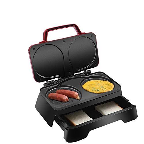 WZHZJ Eléctrica mollete de la torta Dorayaki 3-en- 1 Desayuno Máquina de Hogares de los huevos fritos Sandwich Tostadora Grill