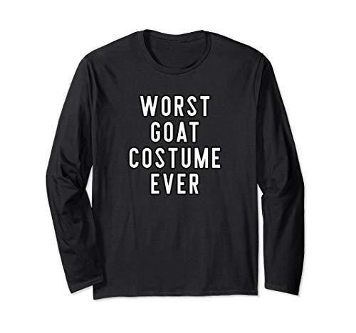 Couples Halloween Costume Shirts Worst Goat Costume Ever Langarmshirt