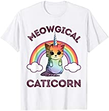 Meowgical Caticorn T shirt Cat Unicorn Girls Women Kittycorn