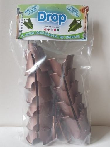 DROP-conf. MT.1-Gocciolatoio componibile-Catena pluviale per gronda-grondaie-Scarico discendente-PVC Colore Rame -Made in Italy-