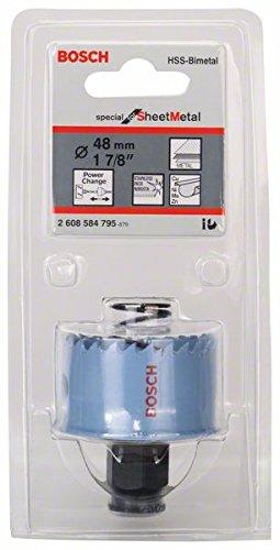 Bosch Professional Lochsäge (für Metallblech, Durchmesser: 48 mm, Zubehör für Akkuschrauber)