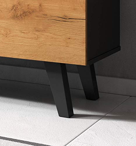 Set, 2-teilig, Badkombination, 1 Waschbeckenunterschrank, mit Syphonaussparung, 1 Wandspiegel, Aufbaumaße: B/H/T:ca. 72x174x34 cm, Badmöbel, Made in EU, in Nussbaum-satin/dunkelbraun Touchwood