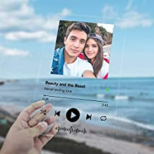 Personalized Spotify Acrylic Song, Custom Spotify Acrylic Glass Album Cover, For Women Men Valentines Birthdays Gifts
