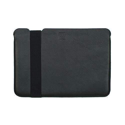 Acme Made Skinny Sleeve L, Ultra-dünne Notebookhülle, 14-15 Zoll, Leder, schwarz