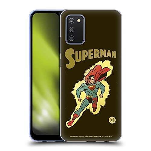 Head Case Designs Officially Licensed Superman DC Comics Comic Vintage Fashion Soft Gel Case Compatible with Galaxy A02s / M02s (2021)