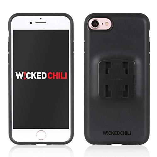 Wicked Chili QuickMOUNT Case mit Regen Schutzhülle kompatibel mit Apple iPhone SE 2020, iPhone 8 und iPhone 7 Hülle mit Rain Cover (4.7 Zoll Handy Schutzhülle und Rain Poncho) schwarz
